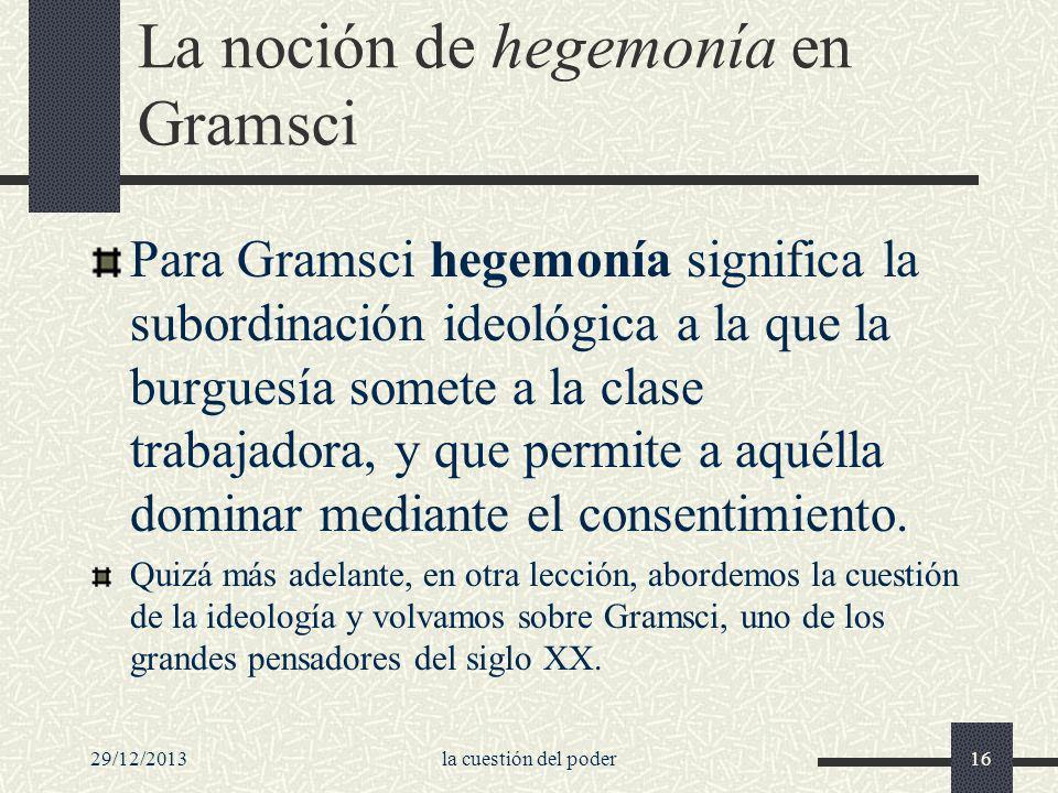 La noción de hegemonía en Gramsci