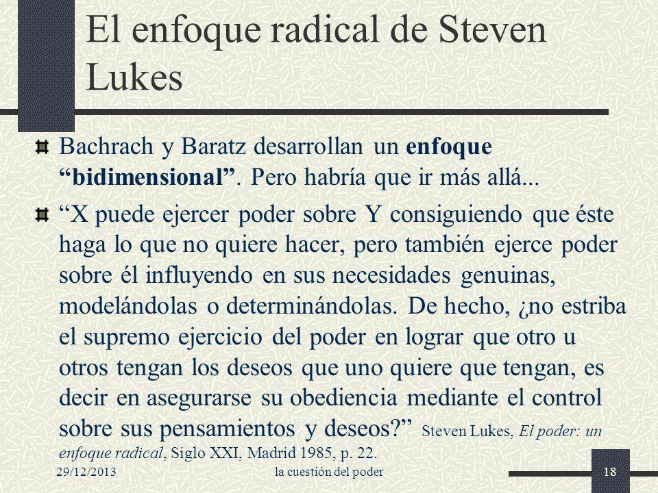 El enfoque radical de Steven Lukes