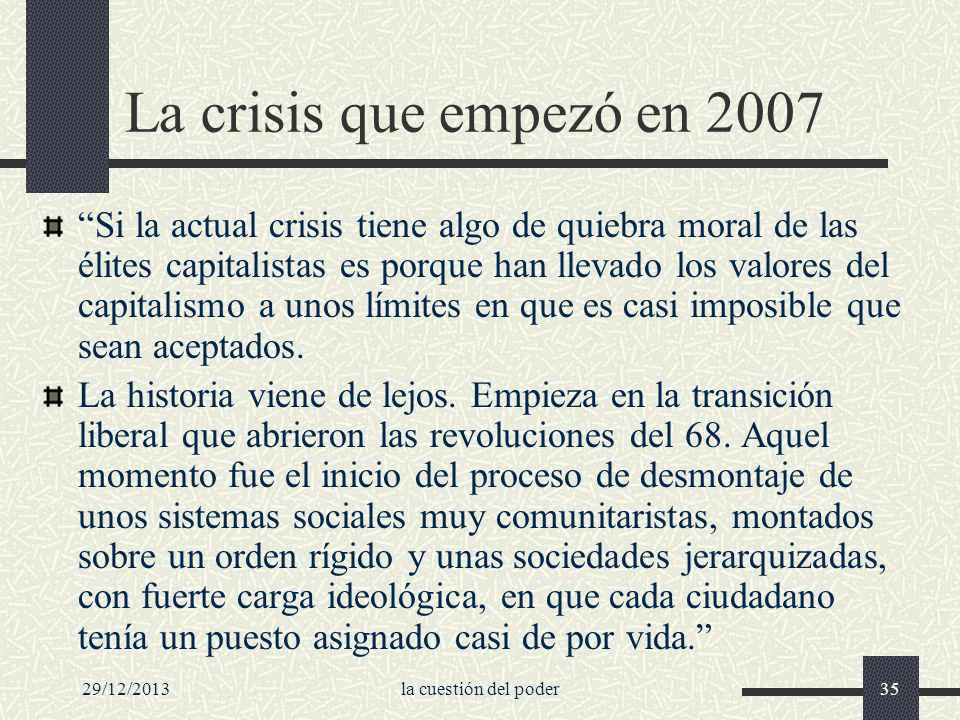 La crisis que empezó en 2007