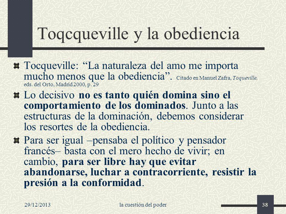 Toqcqueville y la obediencia