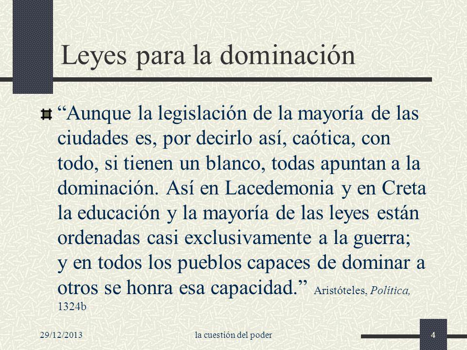 Leyes para la dominación