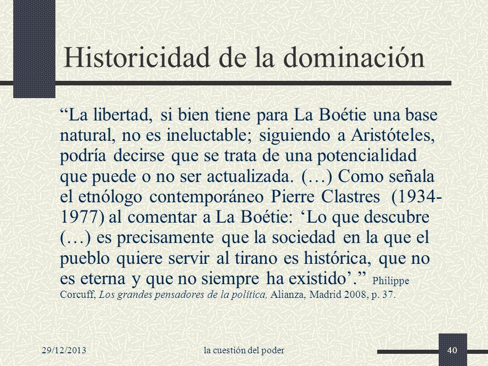 Historicidad de la dominación