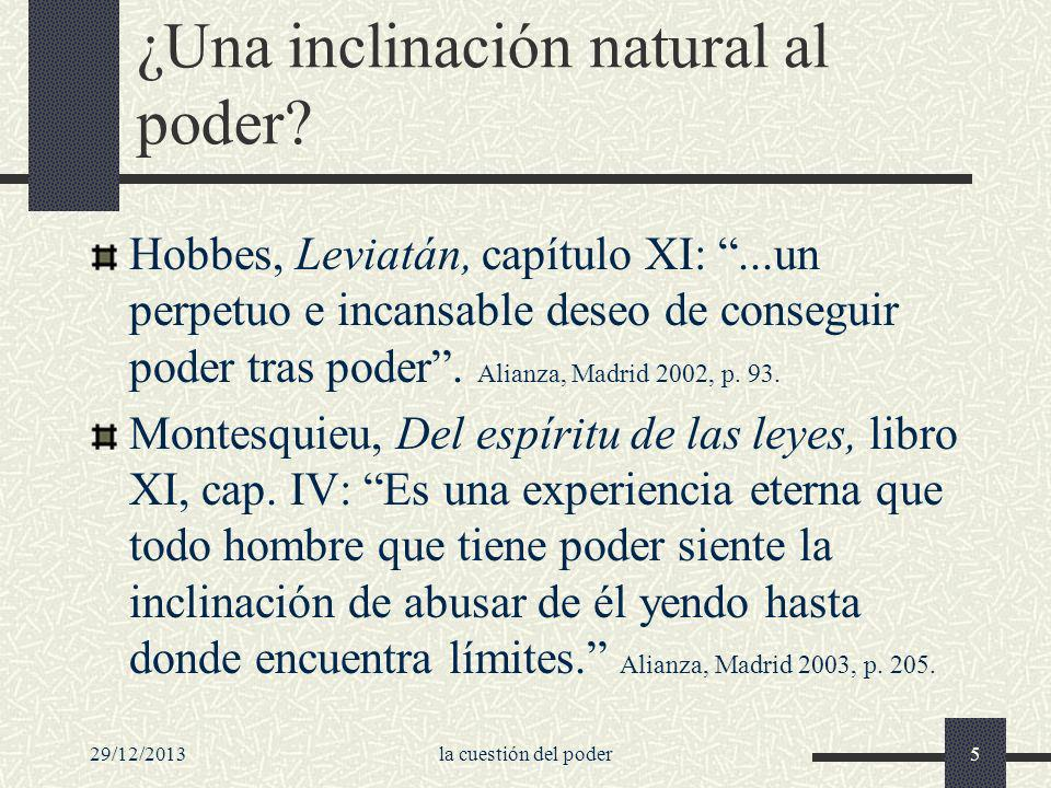 ¿Una inclinación natural al poder