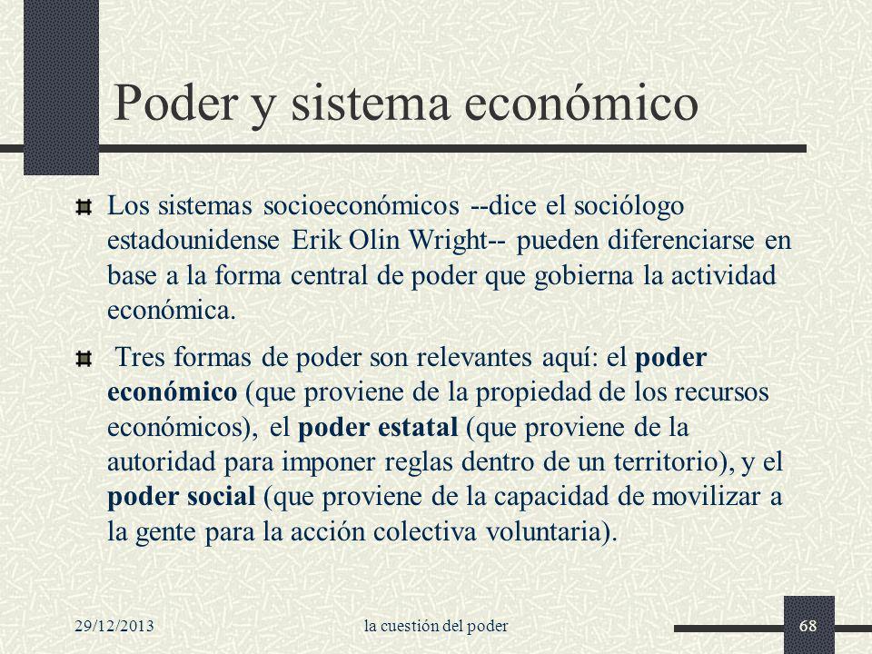 Poder y sistema económico