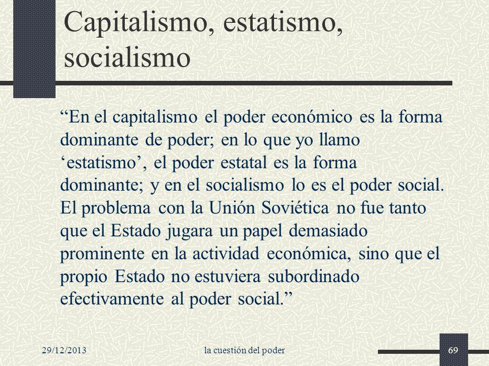 Capitalismo, estatismo, socialismo