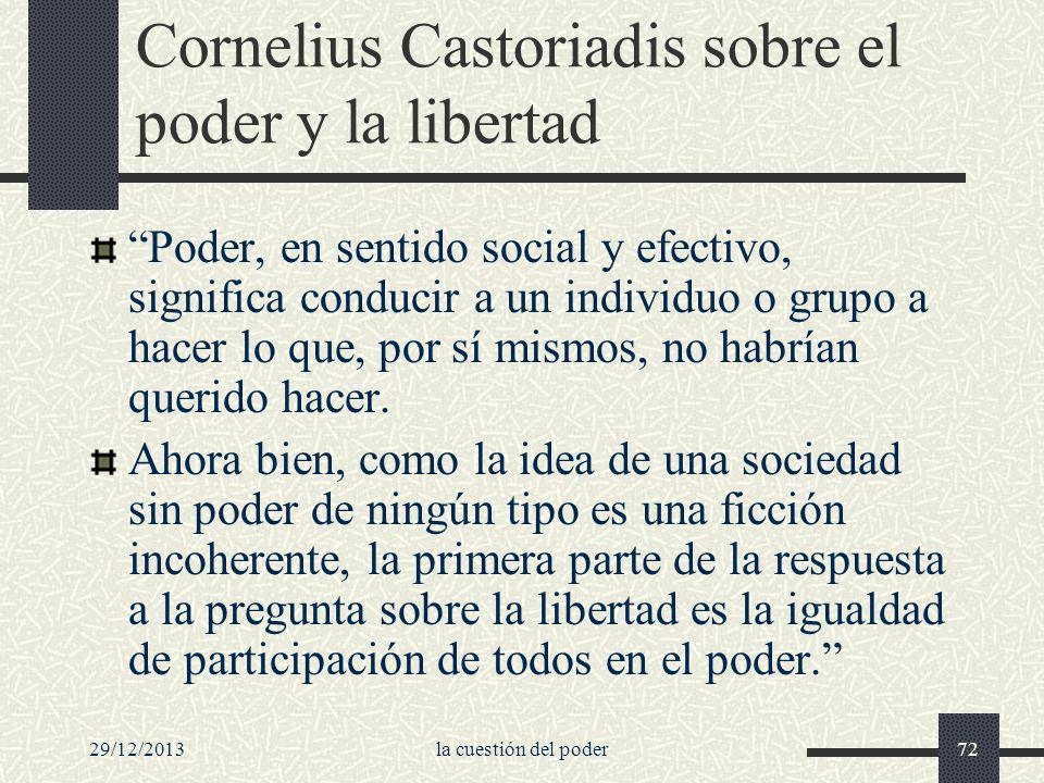 Cornelius Castoriadis sobre el poder y la libertad