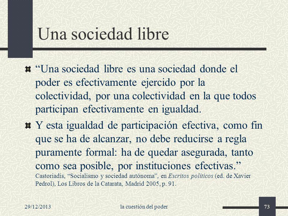 Una sociedad libre
