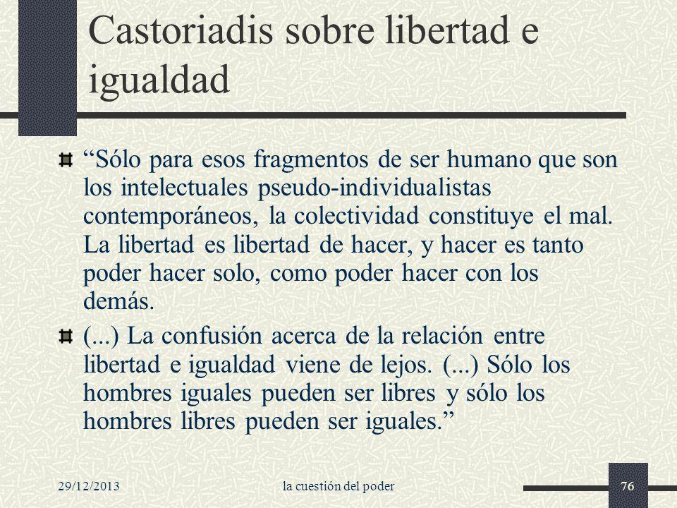 Castoriadis sobre libertad e igualdad