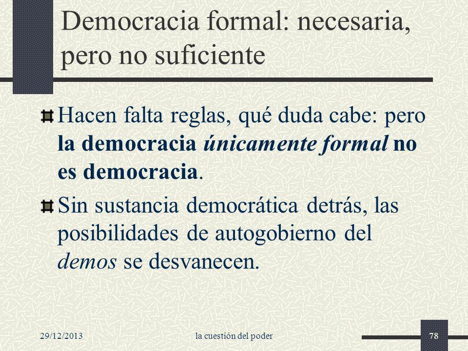 Democracia formal: necesaria, pero no suficiente