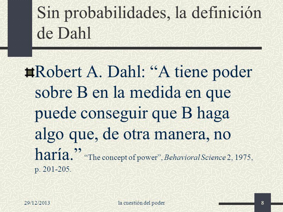Sin probabilidades, la definición de Dahl
