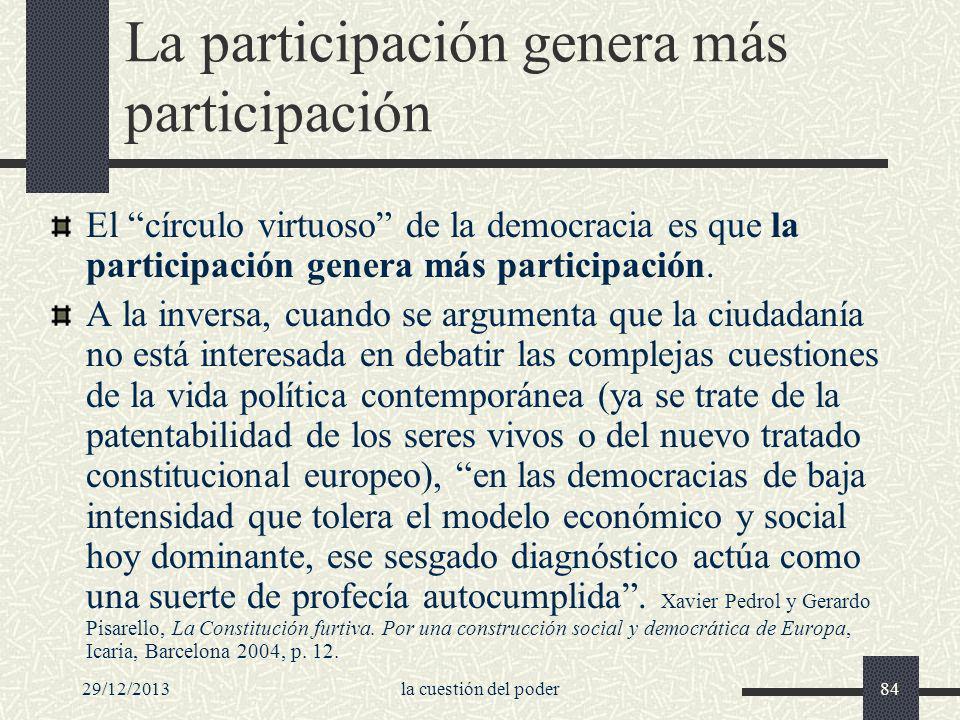 La participación genera más participación