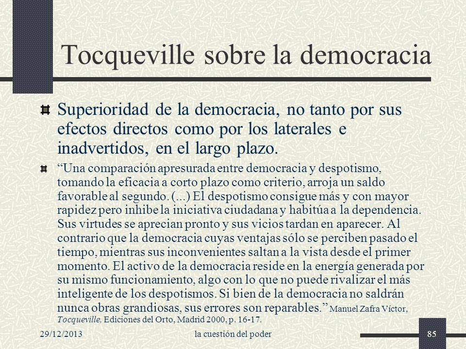 Tocqueville sobre la democracia