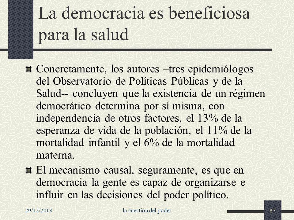 La democracia es beneficiosa para la salud