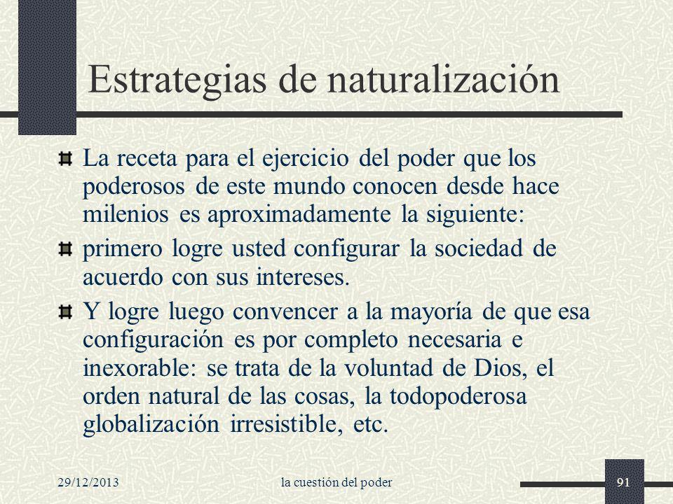 Estrategias de naturalización