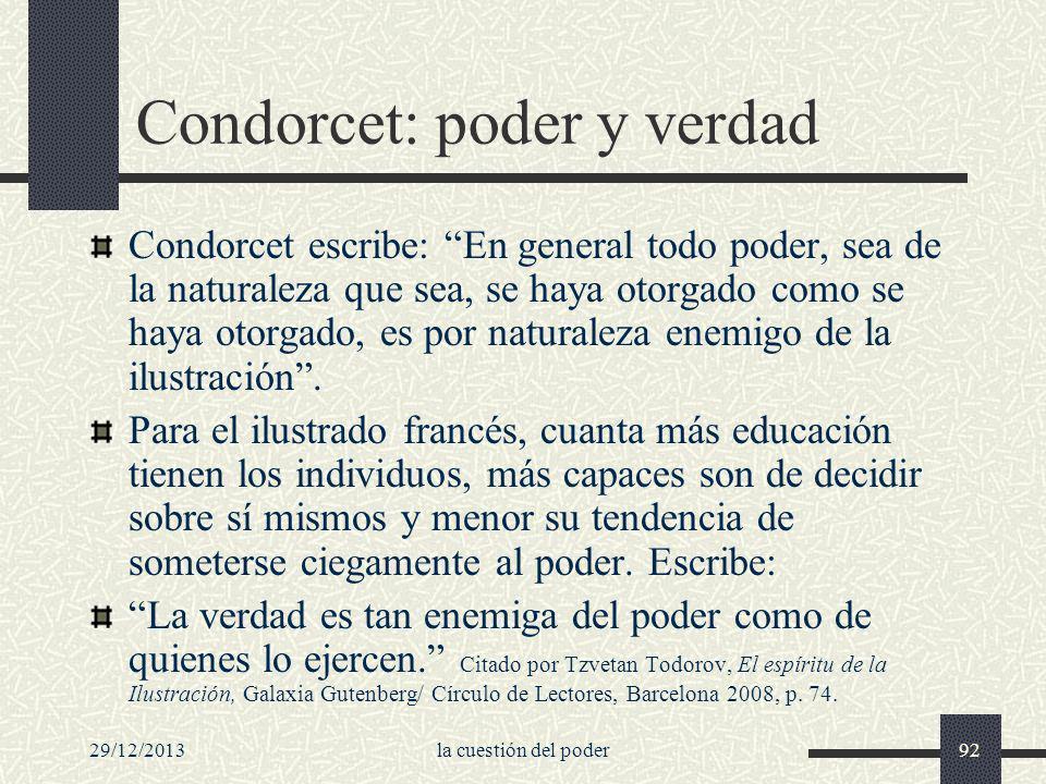 Condorcet: poder y verdad