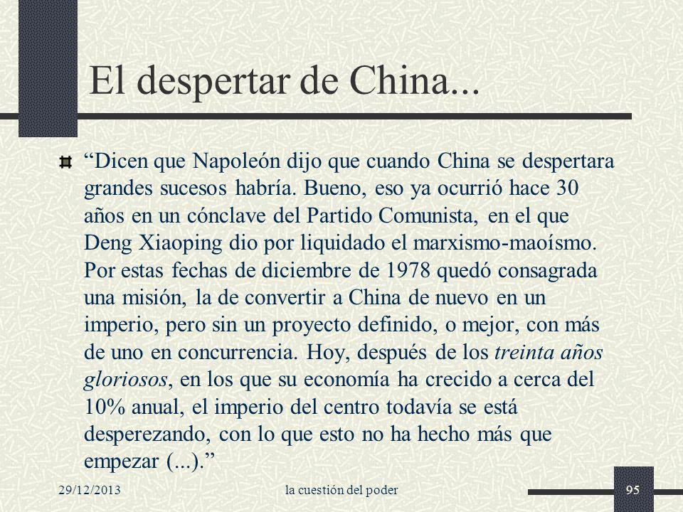 El despertar de China...