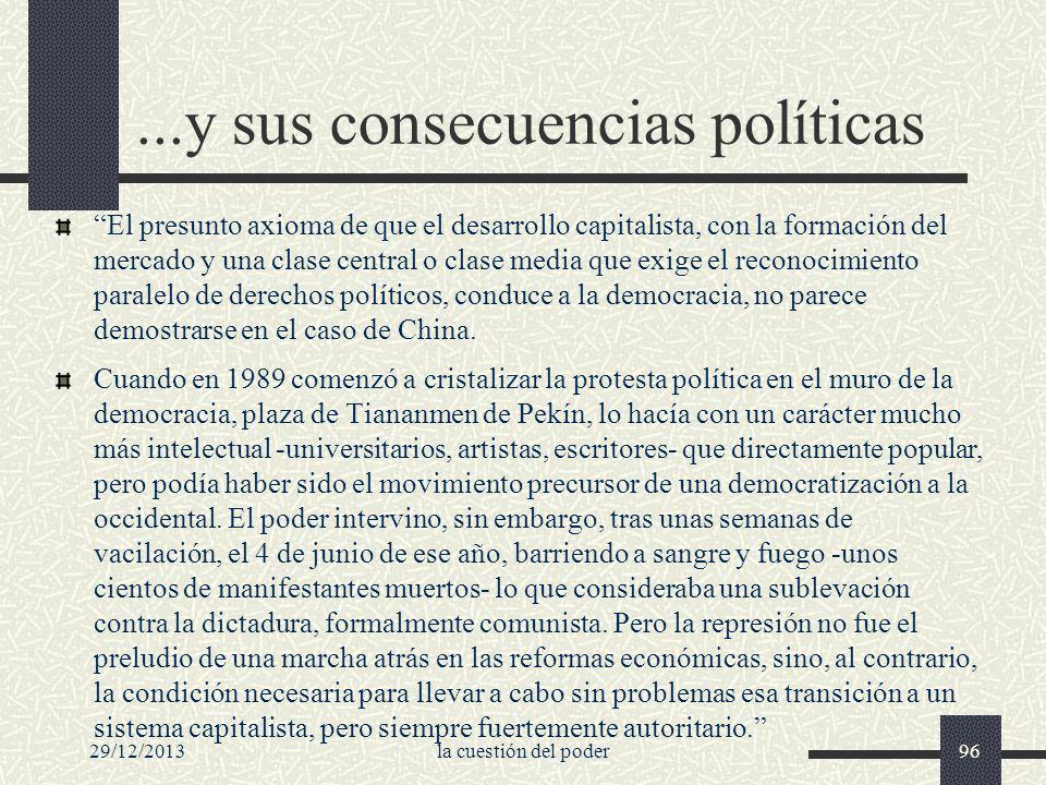 ...y sus consecuencias políticas