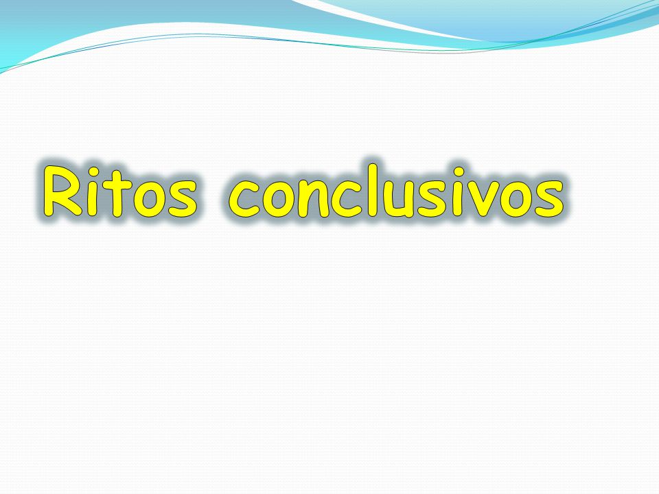 Ritos conclusivos