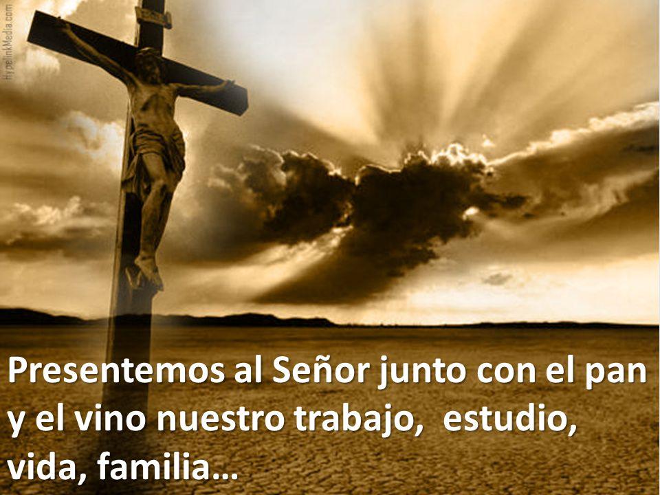 Presentemos al Señor junto con el pan y el vino nuestro trabajo, estudio, vida, familia…
