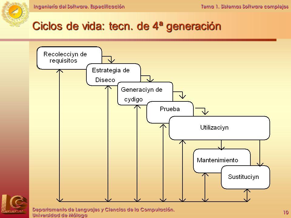 Ciclos de vida: tecn. de 4ª generación