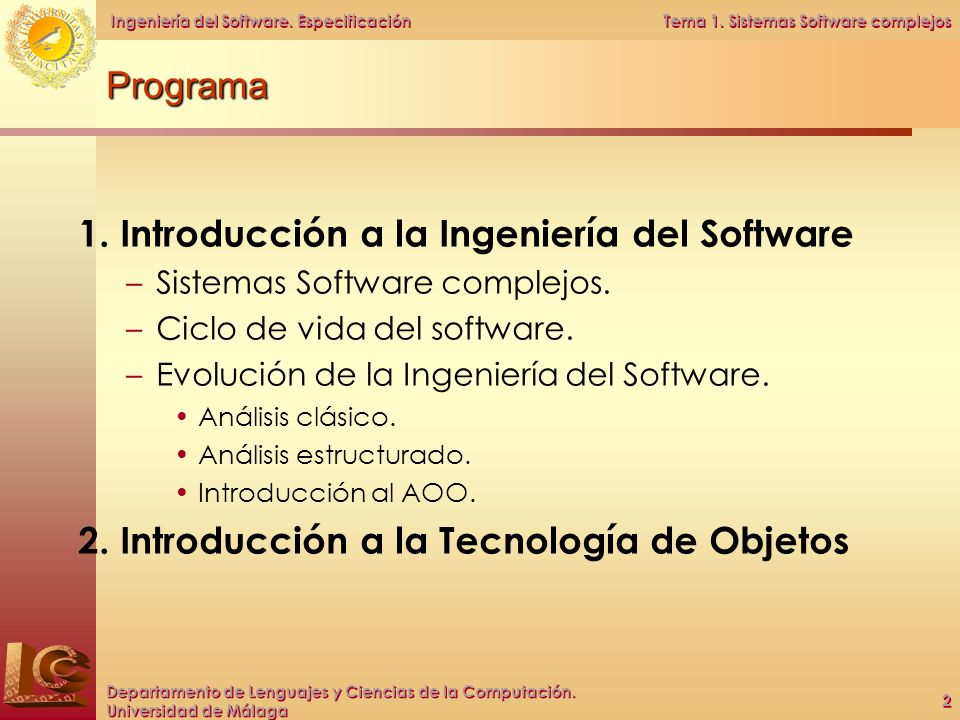 1. Introducción a la Ingeniería del Software