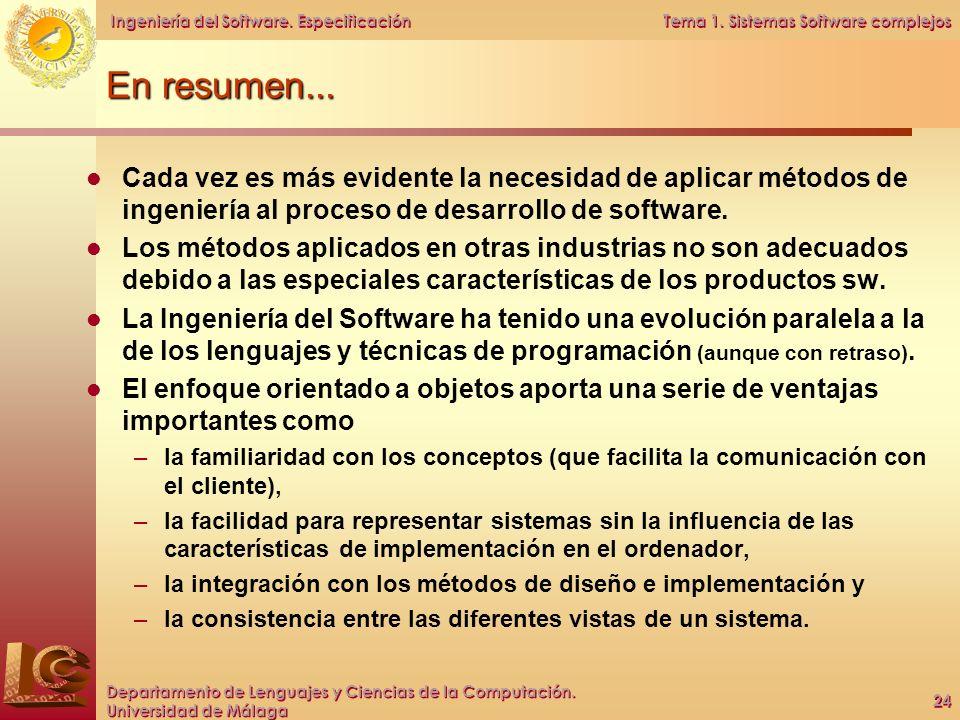Tema 1. Sistemas Software complejos