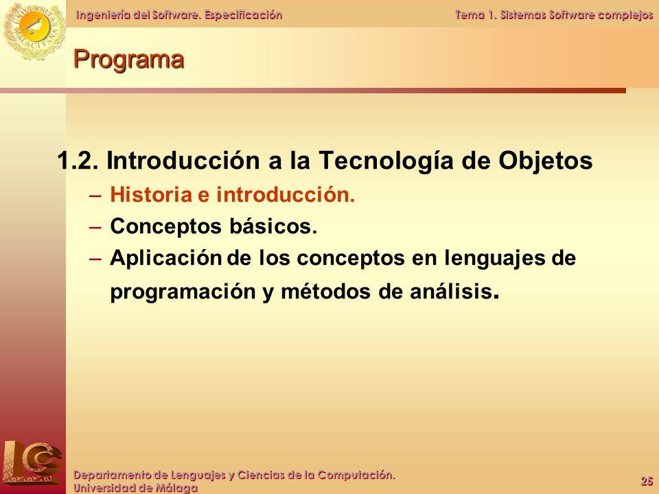 1.2. Introducción a la Tecnología de Objetos