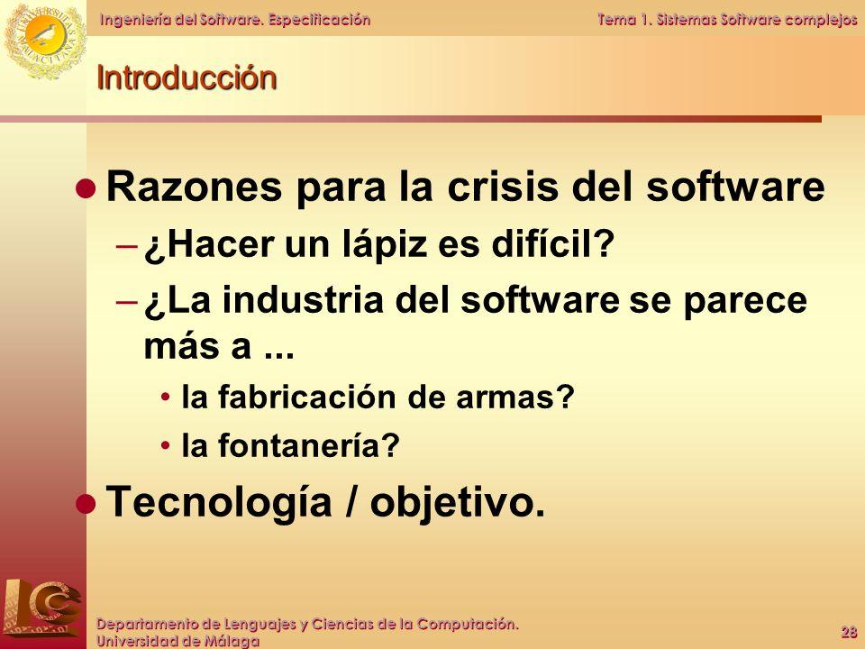 Razones para la crisis del software