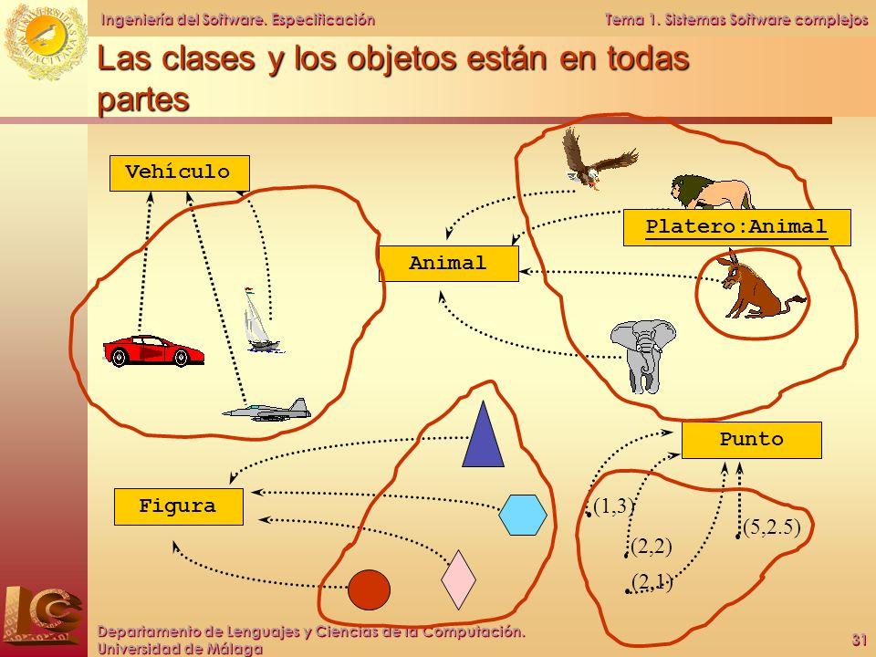 Las clases y los objetos están en todas partes