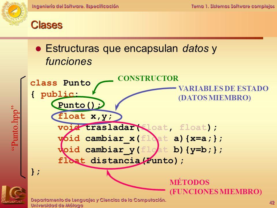 Estructuras que encapsulan datos y funciones