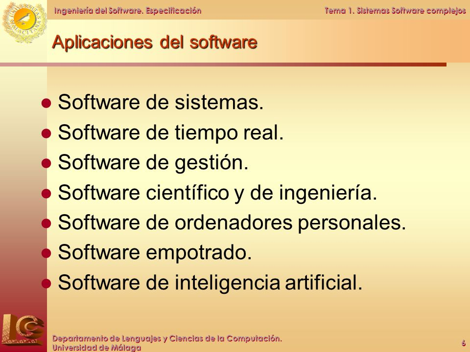 Aplicaciones del software
