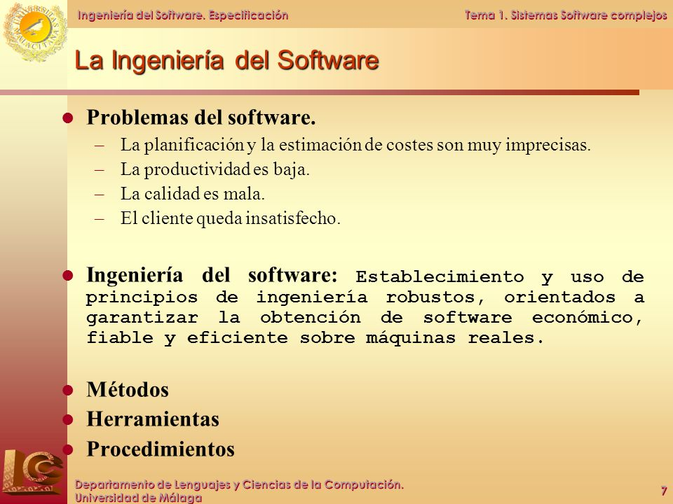 La Ingeniería del Software