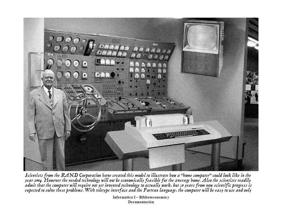 Informática I – Biblioteconomía y Documentación
