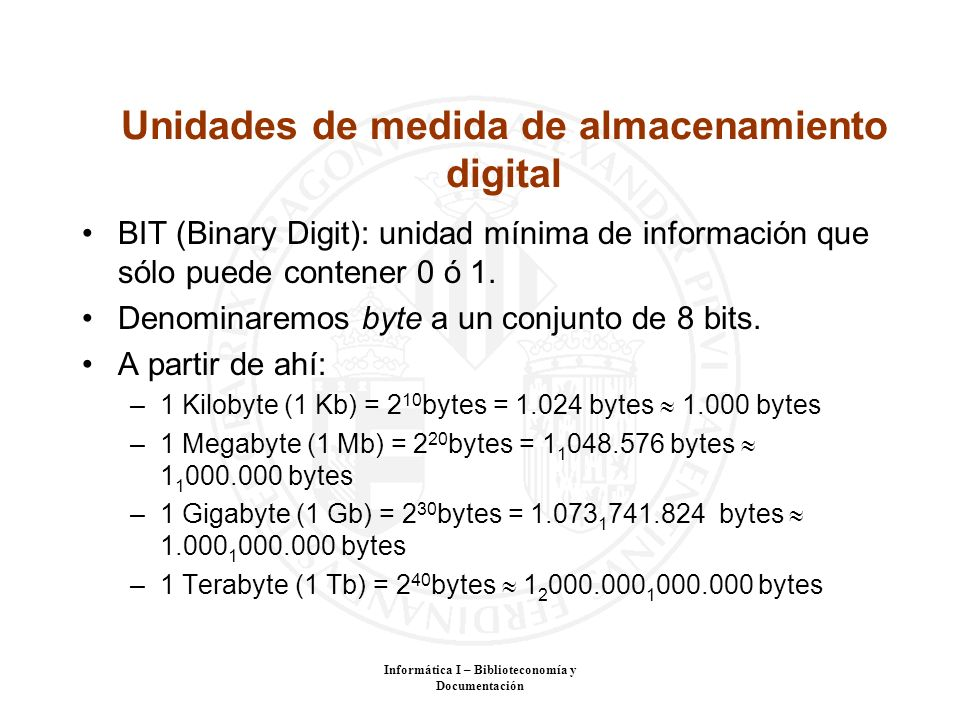Unidades de medida de almacenamiento digital
