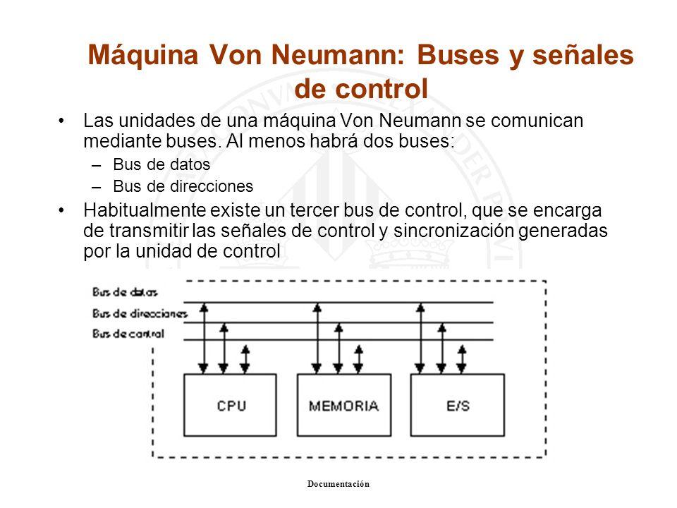 Máquina Von Neumann: Buses y señales de control