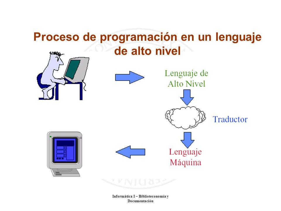 Proceso de programación en un lenguaje de alto nivel