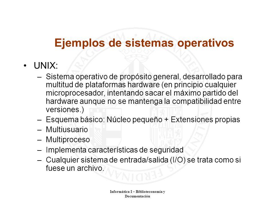 Ejemplos de sistemas operativos