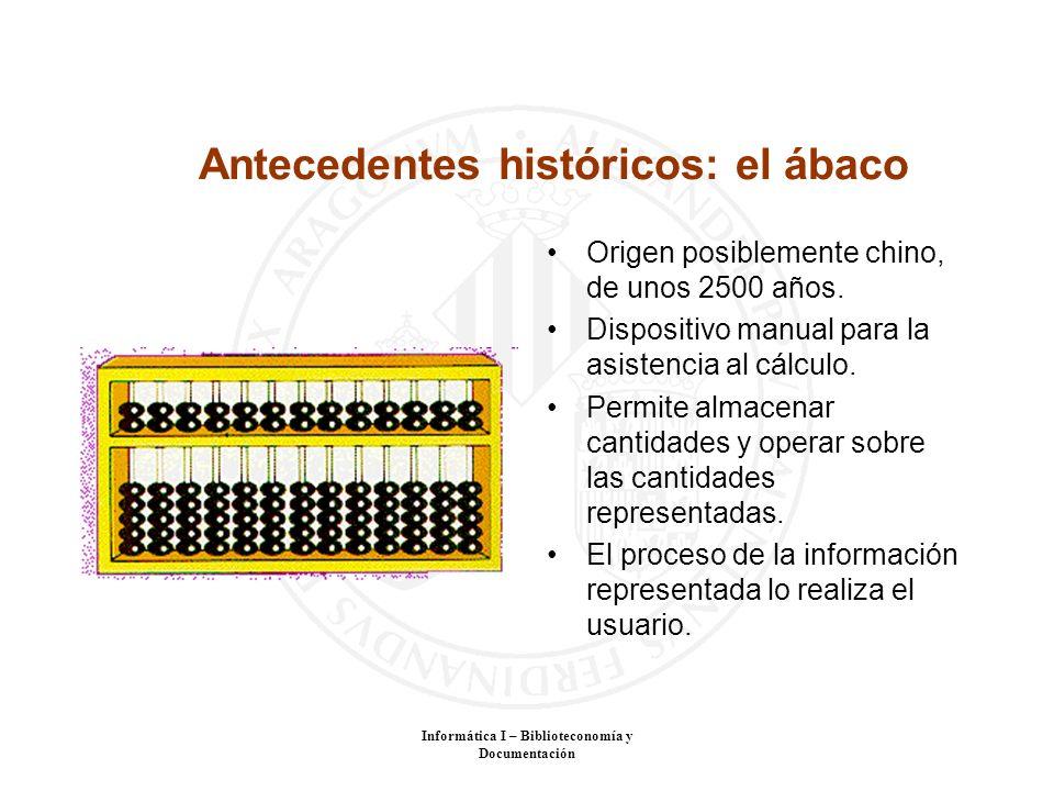 Antecedentes históricos: el ábaco