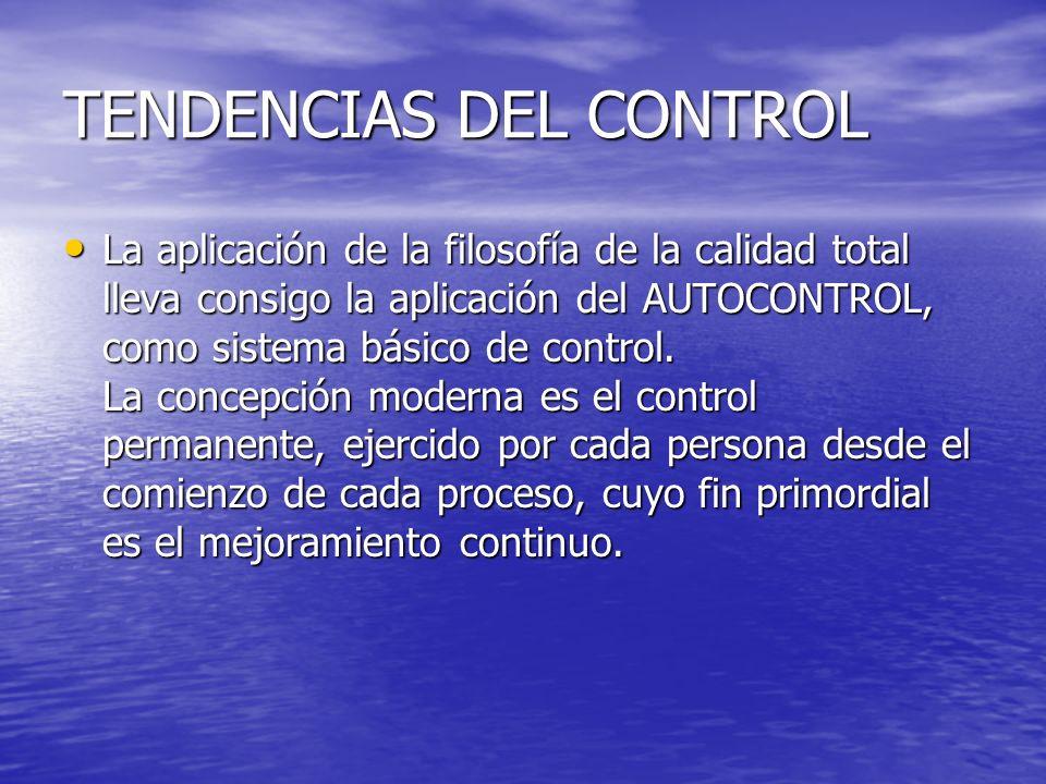 TENDENCIAS DEL CONTROL