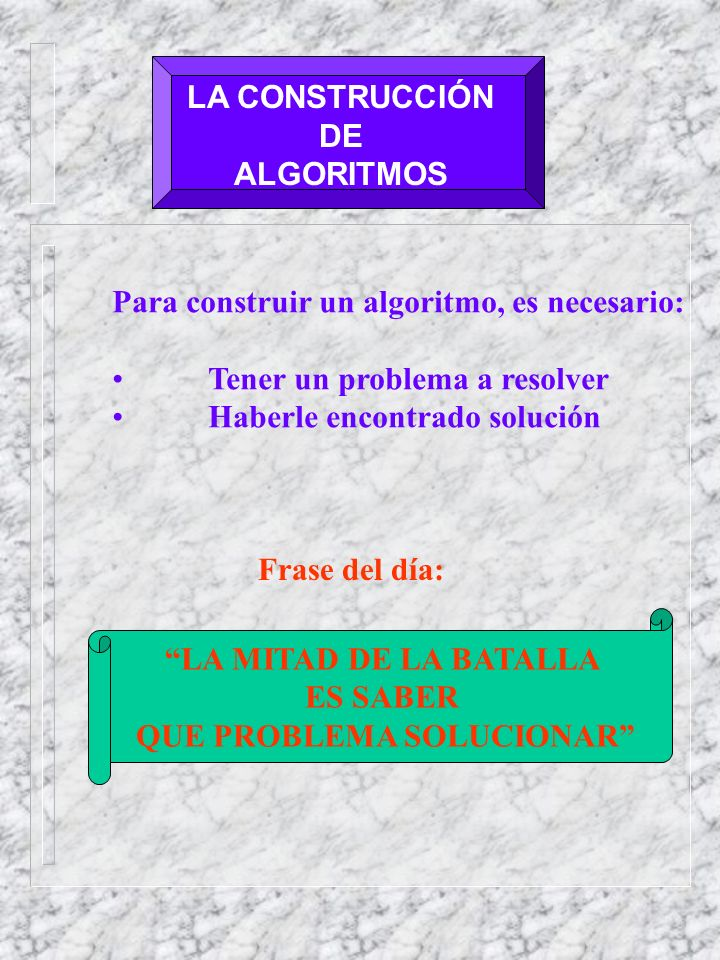 QUE PROBLEMA SOLUCIONAR