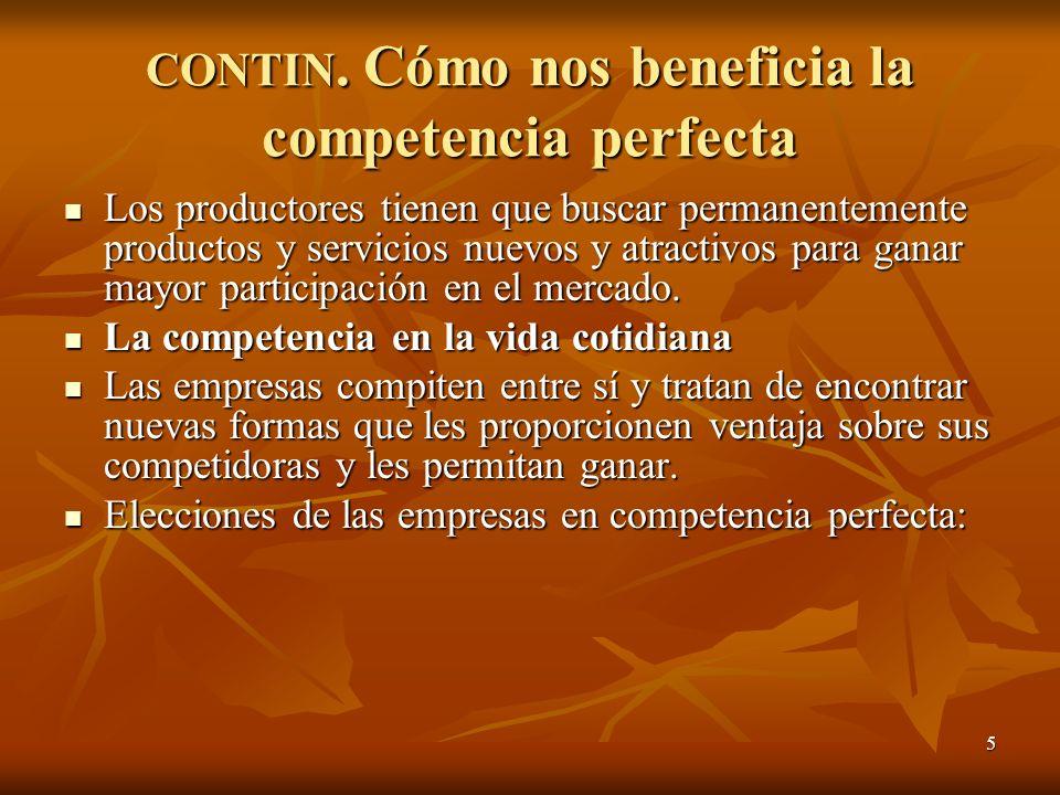 CONTIN. Cómo nos beneficia la competencia perfecta