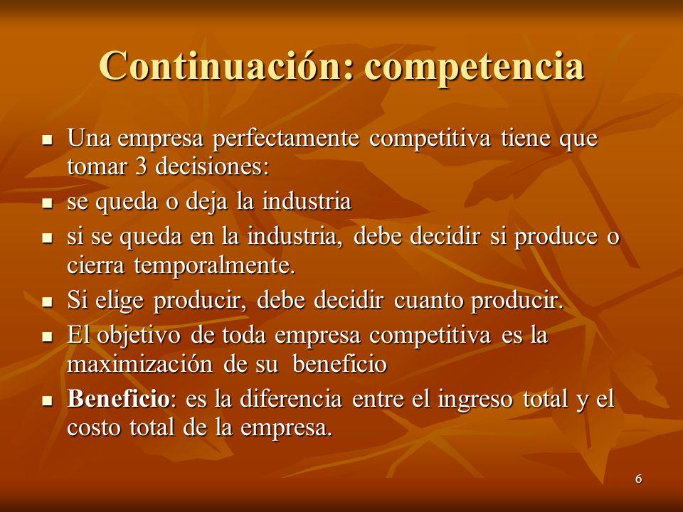 Continuación: competencia