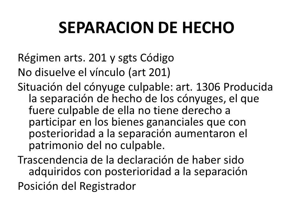 SEPARACION DE HECHO