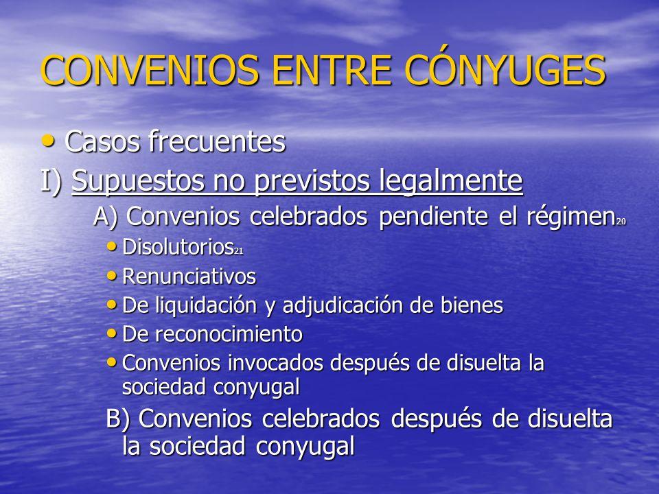 CONVENIOS ENTRE CÓNYUGES