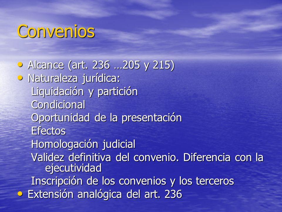 Convenios Alcance (art. 236 …205 y 215) Naturaleza jurídica: