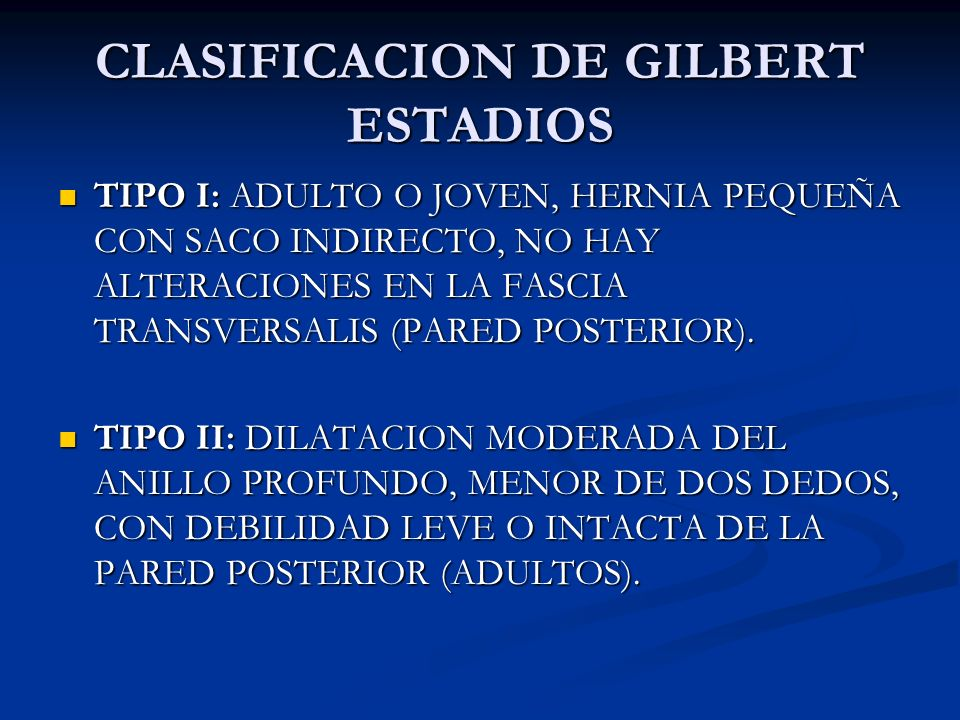 CLASIFICACION DE GILBERT ESTADIOS