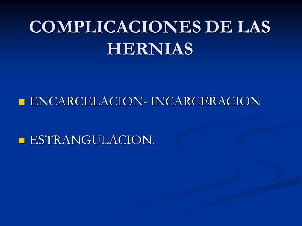 COMPLICACIONES DE LAS HERNIAS