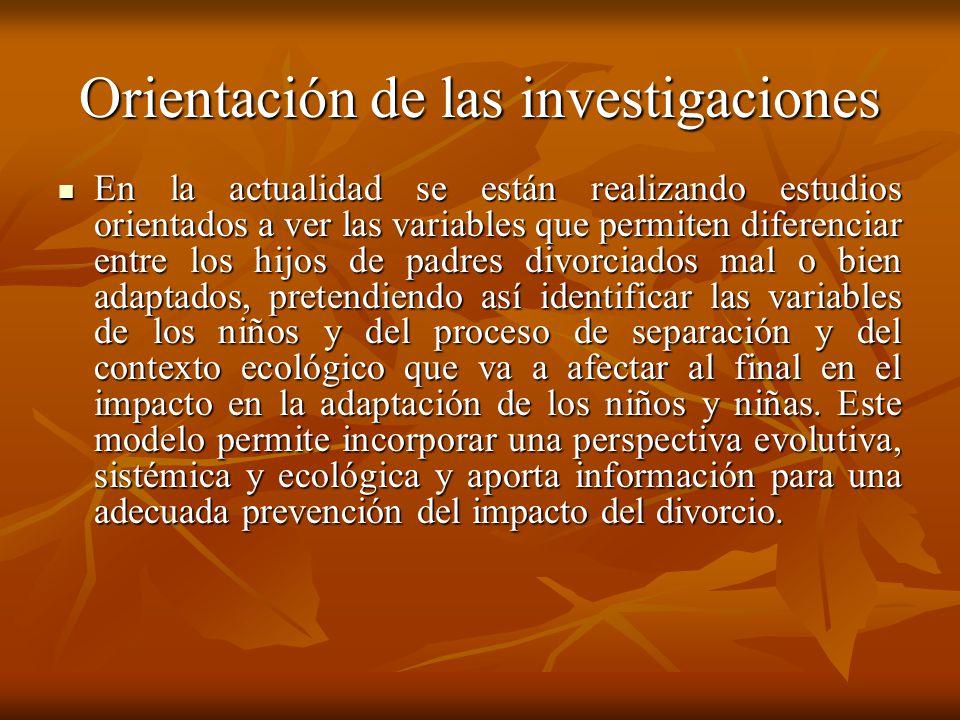 Orientación de las investigaciones