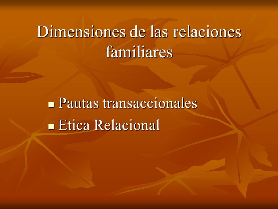 Dimensiones de las relaciones familiares