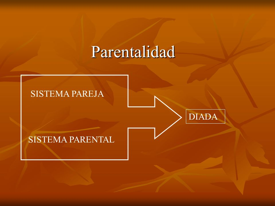 Parentalidad SISTEMA PAREJA DIADA SISTEMA PARENTAL